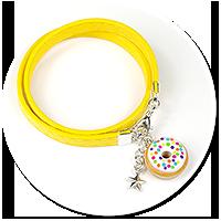kolorowa bransoletka z pączkiem nr 8
