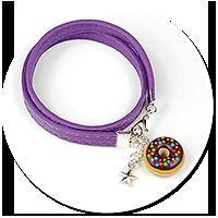 kolorowa bransoletka z pączkiem nr 9