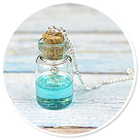 marynarski naszyjnik buteleczka z kotwicą