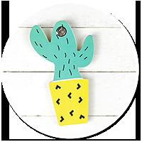 słodki notes kaktus