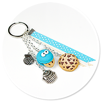 keyring with cookie monster (macaron) no. 2