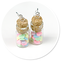 earrings jar with candies no. 6