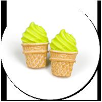 plug-in earrings ice cream no. 7