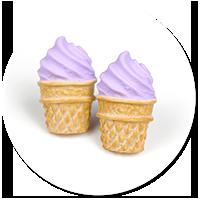 plug-in earrings ice cream no. 8