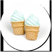 kolczyki wtykane lody włoskie nr 3