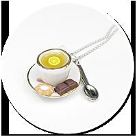 naszyjnik z herbatą