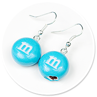 kolczyki niebieskie m&ms