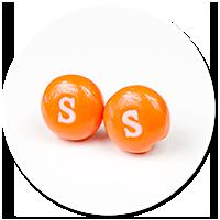 kolczyki wtykane cukierki Skittles