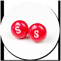 kolczyki wtykane cukierki Skittles nr 3