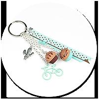 breloczek z babeczkami i rowerem nr 2