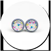 kolorowe kolczyki wtykane we wzorki nr 8