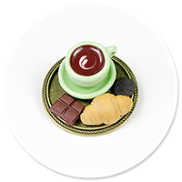 broszka taca z kawą i łakociami nr 3