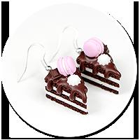 kolczyki torty czekoladowe