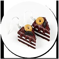 kolczyki torty czekoladowe nr 5