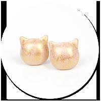kolczyki wytkane koty nr 6