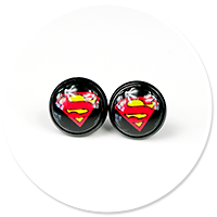 kolczyki SUPERMAN