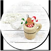 naszyjnik świąteczny kubek z gorącą czekoladą nr 7