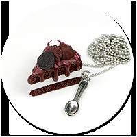 naszyjnik tort czekoladowy nr 2