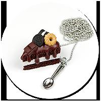 naszyjnik tort czekoladowy nr 5