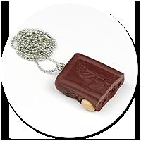 naszyjnik czekolada z orzechami