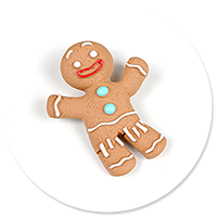 brooch cookie man