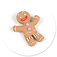 brooch cookie man no. 3