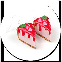 kolczyki sernik z truskawkami nr 3