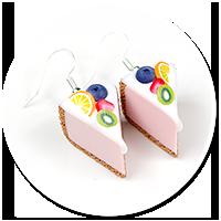 kolczyki sernik z owocami nr 2
