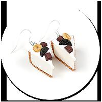 kolczyki sernik z słodyczami nr 2