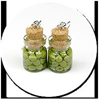 kolczyki słoik z oliwkami nr 2