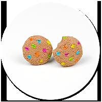 kolczyki wtykane mini pieguski (kolorowe)