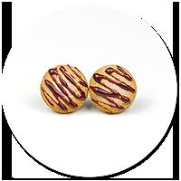 kolczyki wtykane mini ciasteczka
