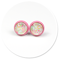 colorful earrings in patterns no. 2