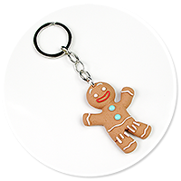 keyring with cookie man no. 2
