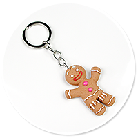 keyring with cookie man no. 3
