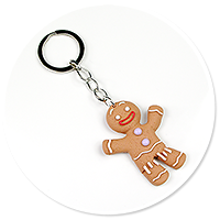 keyring with cookie man