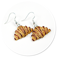 earrings croissants with chocolate
