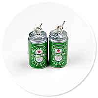 kolczyki wiszące puszki piwa