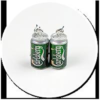 kolczyki wiszące puszki piwa nr 2