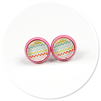 colorful earrings in patterns no. 3