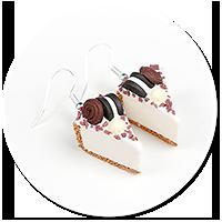 kolczyki sernik z słodyczami