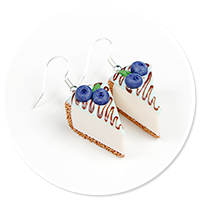 earrings cheese cake (blueberry) no. 3
