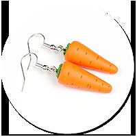 kolczyki marchewki