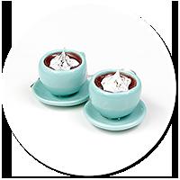 kolczyki kolorowe filiżanki z gorącą czekoladą nr 3