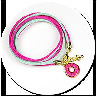 kolorowa bransoletka z donatem