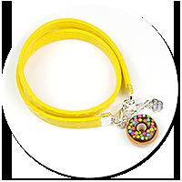 kolorowa bransoletka z pączkiem nr 3