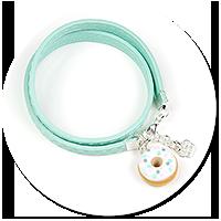 kolorowa bransoletka z pączkiem nr 2
