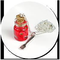 naszyjnik słoik z papryczkami nr 2