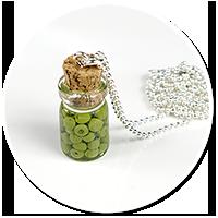naszyjnik słoik z oliwkami