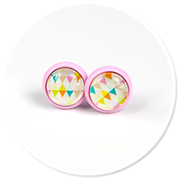 colorful earrings in patterns no. 11